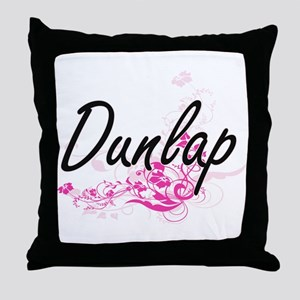 Dunlap surname artistic design with F Throw Pillow