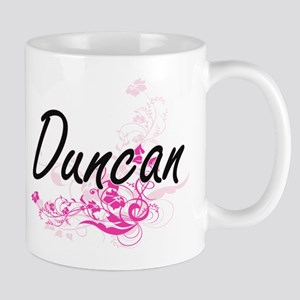 Duncan surname artistic design with Flowers Mugs