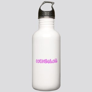 Counselor Pink Flower Stainless Water Bottle 1.0L