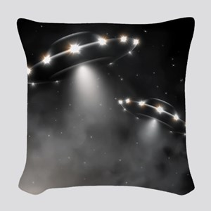 UFO Woven Throw Pillow