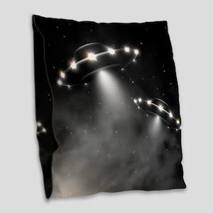 UFO Burlap Throw Pillow