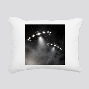 UFO Rectangular Canvas Pillow