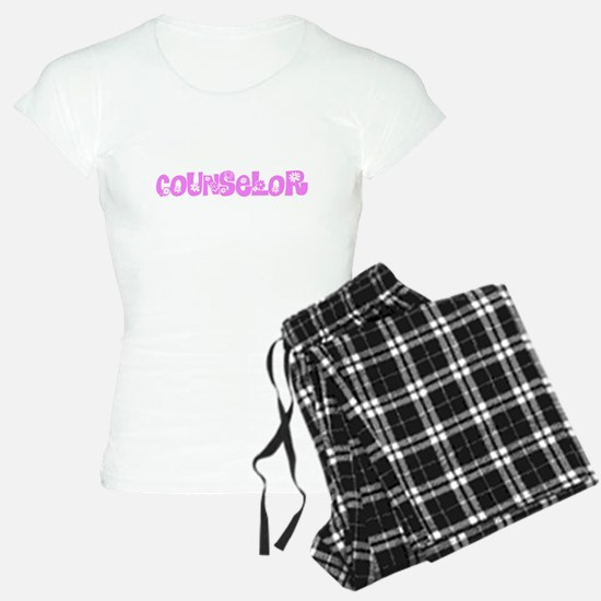Counselor Pink Flower Design Pajamas