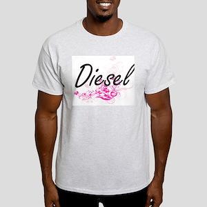 Diesel surname artistic design with Flower T-Shirt