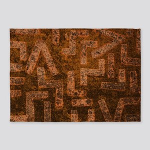 Weathered Ancient Wall 5'x7'Area Rug