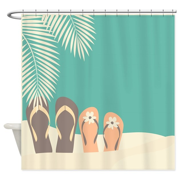 Flip Flops Shower Curtain By Fuzzychair-3255