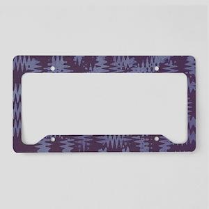 Purple Tribal Art License Plate Holder