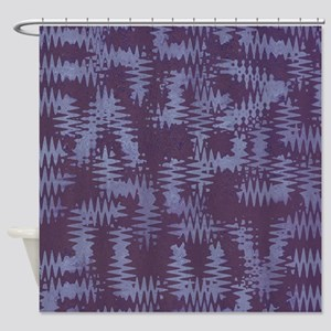 Purple Tribal Art Shower Curtain