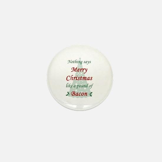 Christmas Bacon Mini Button