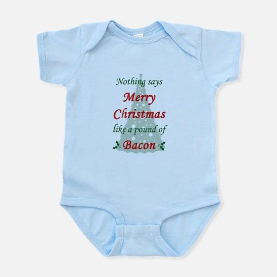 Christmas Bacon Infant Bodysuit