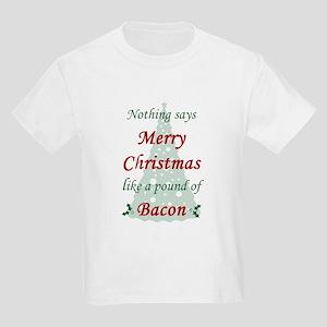 Christmas Bacon Kids Light T-Shirt