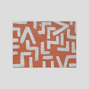 Southwestern Art 5'x7'Area Rug