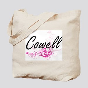 Cowell surname artistic design with Flowe Tote Bag