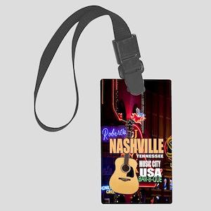 Nashville Music City-05 Large Luggage Tag