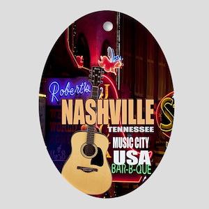 Nashville Music City-05 Oval Ornament