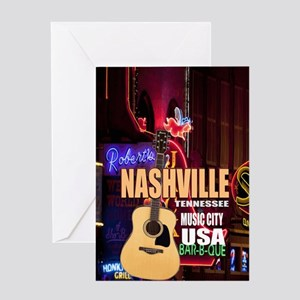 Nashville Music City-05 Greeting Card