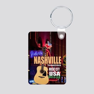Nashville Music City-05 Aluminum Photo Keychain