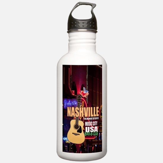 Nashville Music City-0 Water Bottle