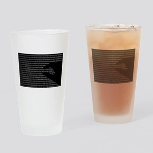 Password Hacked Drinking Glass