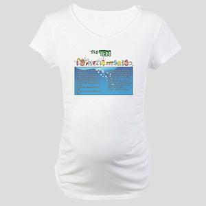 The Ten Fishmandments Maternity T-Shirt
