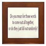 Are your words random? Framed Tile