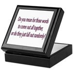 Are your words random? Keepsake Box