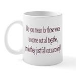 Are your words random? Mug