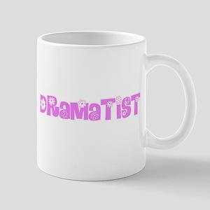 Dramatist Pink Flower Design Mugs