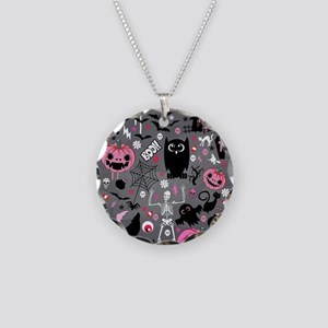 halloween Necklace Circle Charm