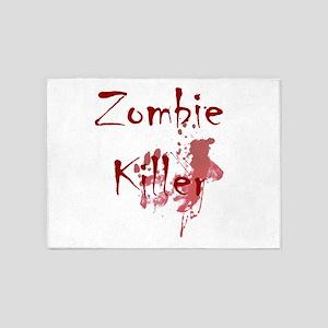 blood splatter zombie killer 5'x7'Area Rug
