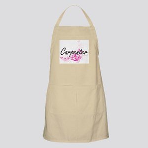 Carpenter surname artistic design with Flowe Apron