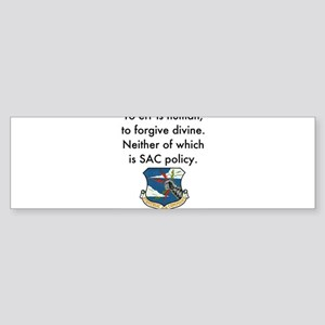 SAC Policy Bumper Sticker