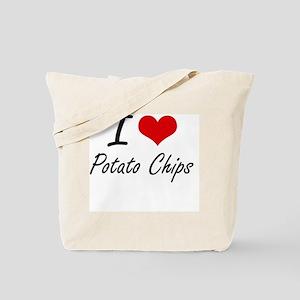 I Love Potato Chips Tote Bag
