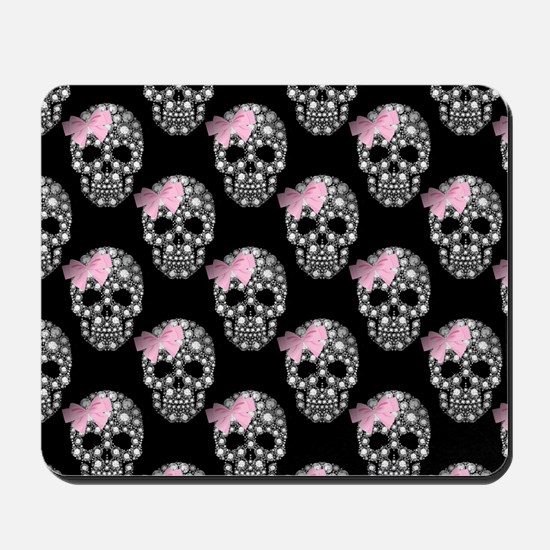 DIAMOND DIVA SKULLS Mousepad