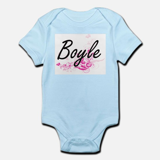 Boyle surname artistic design with Flowe Body Suit
