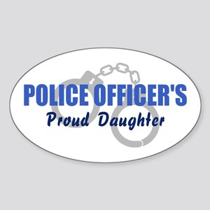 Police Proud Daughter Oval Sticker
