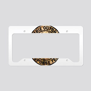 zombie outbreak response team License Plate Holder