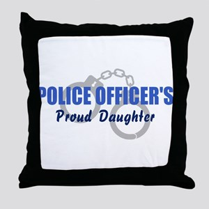 Police Proud Daughter Throw Pillow