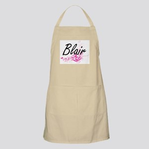 Blair surname artistic design with Flowers Apron