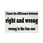 Wrong Is The Fun One Rectangle Magnet (10 pack)