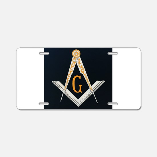 Masonic symbol Aluminum License Plate