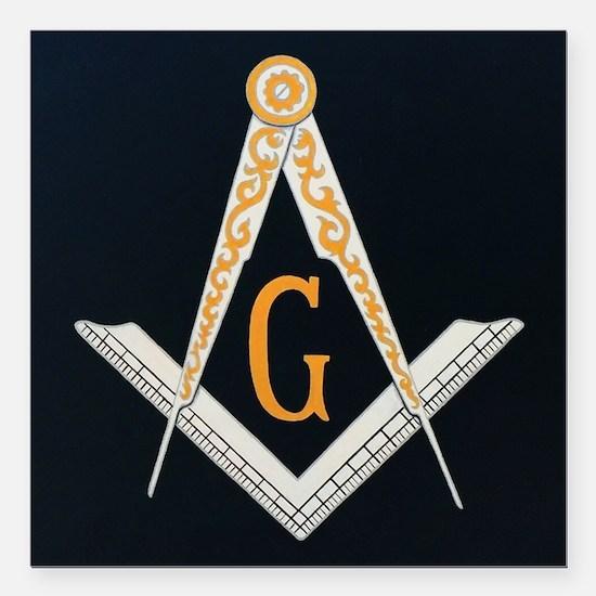 "Masonic symbol Square Car Magnet 3"" x 3"""