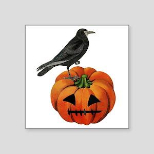 vintage halloween crow pumpkin Sticker