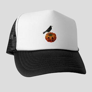 vintage halloween crow pumpkin Trucker Hat