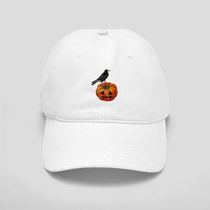 vintage halloween crow pumpkin Cap