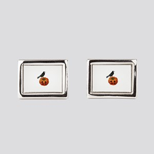vintage halloween crow pumpk Rectangular Cufflinks