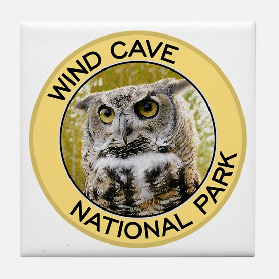 Wind Cave NP (Great Horned Owl) Tile Coaster