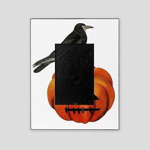 vintage halloween crow pumpkin Picture Frame