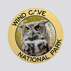 Wind Cave NP (Great Horned Owl) Ornament (Round)