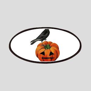 vintage halloween crow pumpkin Patch
